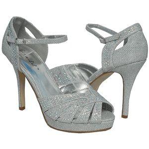 Silver Sparkle High Heels - Bonnibel Belinda